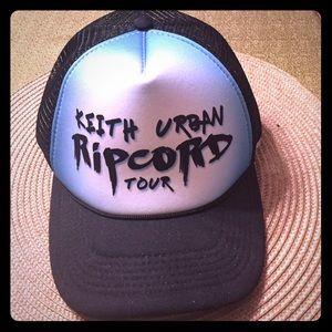 Accessories - Keith Urban Ripcord Tour ball cap. Never worn.